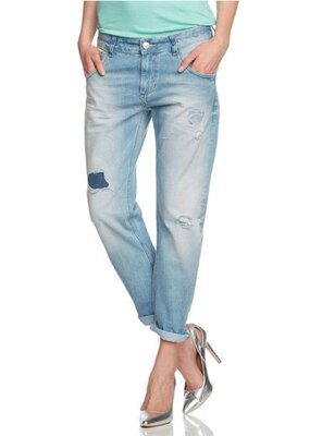 Cross Jeans - Ladies IVY Destroyed Boyfriend Fit Jeans -...