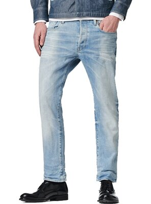 G-Star Raw - mens 3301 Stretch Straight Fit Jeans - LIGHT...