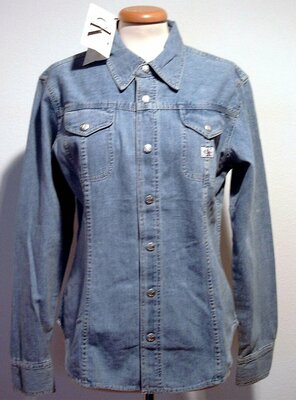 Calvin Klein Jeans - ladies BASIC FITTED Denim Shirt,...